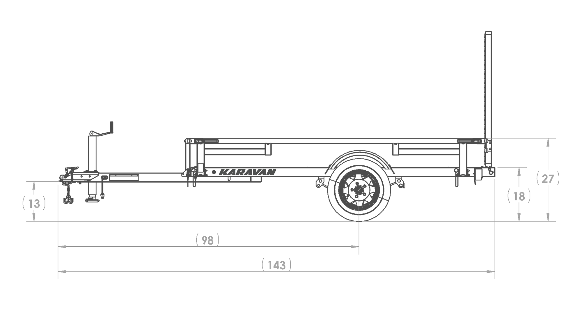2021 Karavan 5' X 8' Utility Trailer