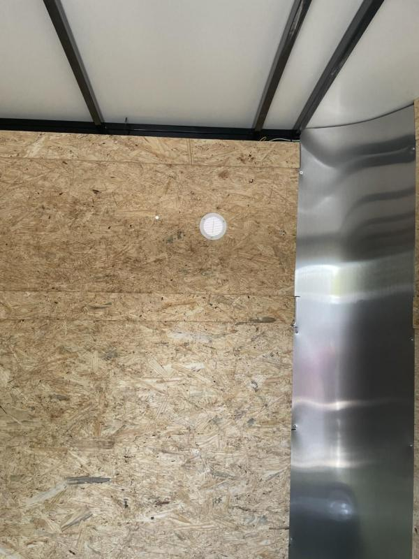 2021 Arising 7' X 14' White Soft V-Nose Enclosed Cargo Trailer