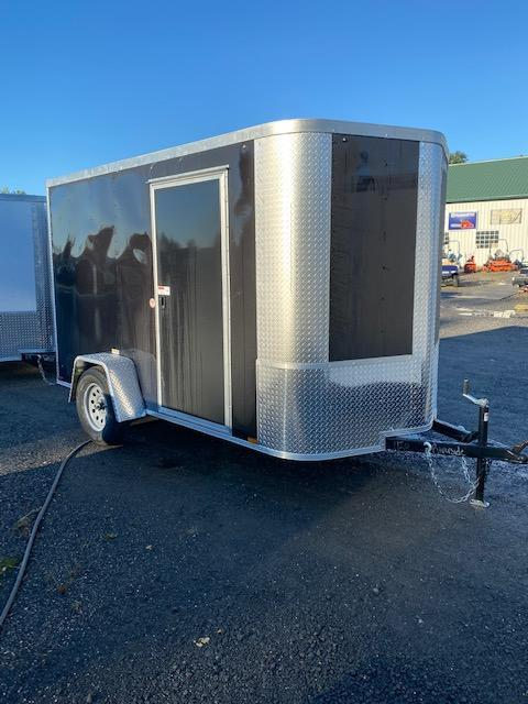 2021 Arising 6' x 10' Black Soft Nose Single Axle Enclosed Cargo Trailer