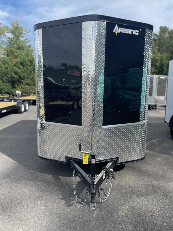 2022 Arising 6' x 10' Black Soft Nose Single Axle Enclosed Cargo Trailer