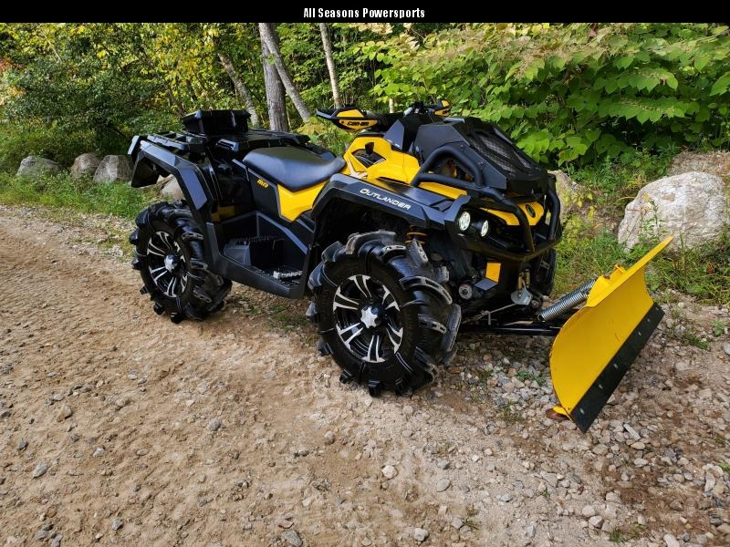 2014 Can Am Outlander 1000 XMR with plow
