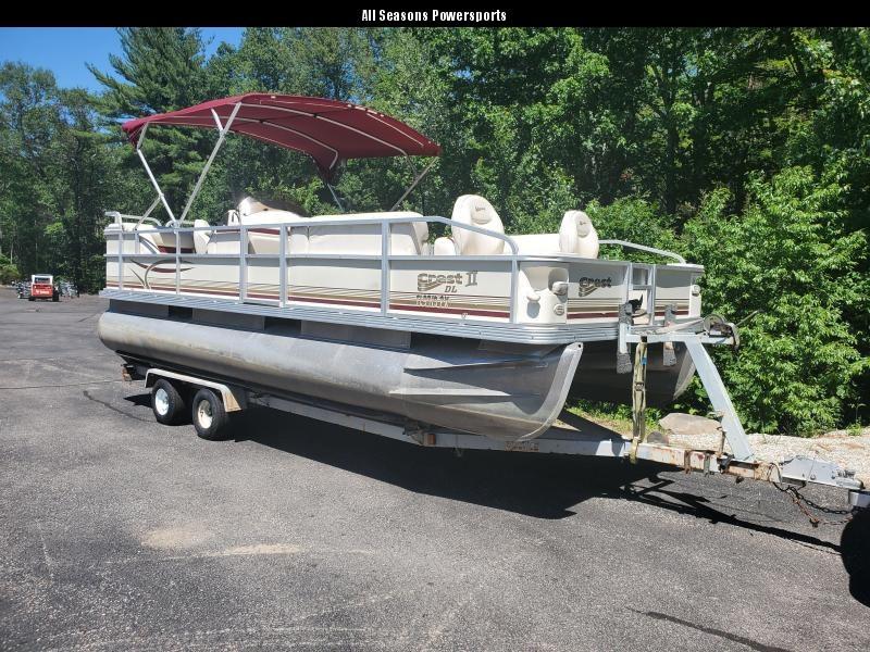 2002 Crest DL 20 FT Pontoon Boat with trailer