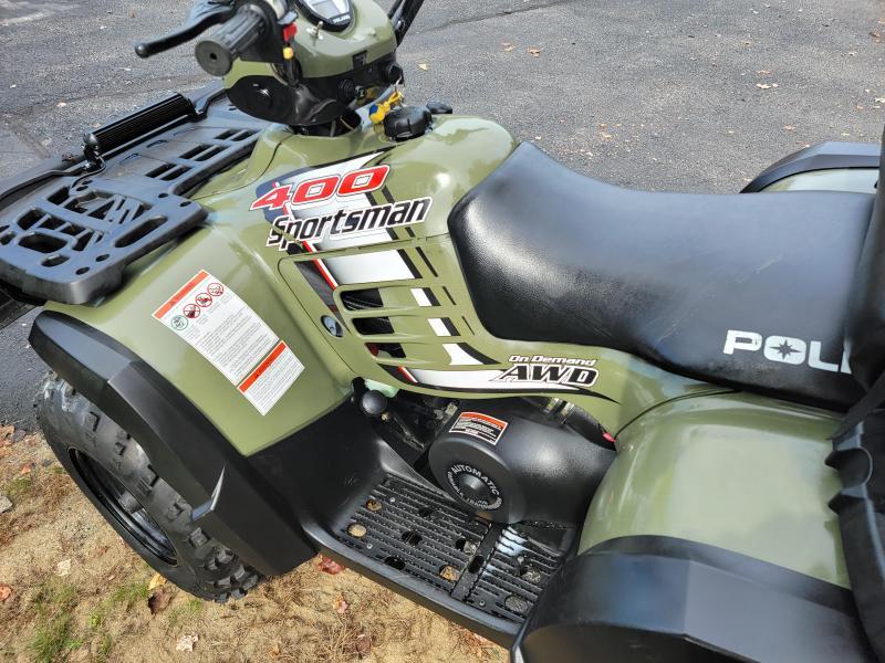 2002 Polaris Sportsman 400 4x4 with plow