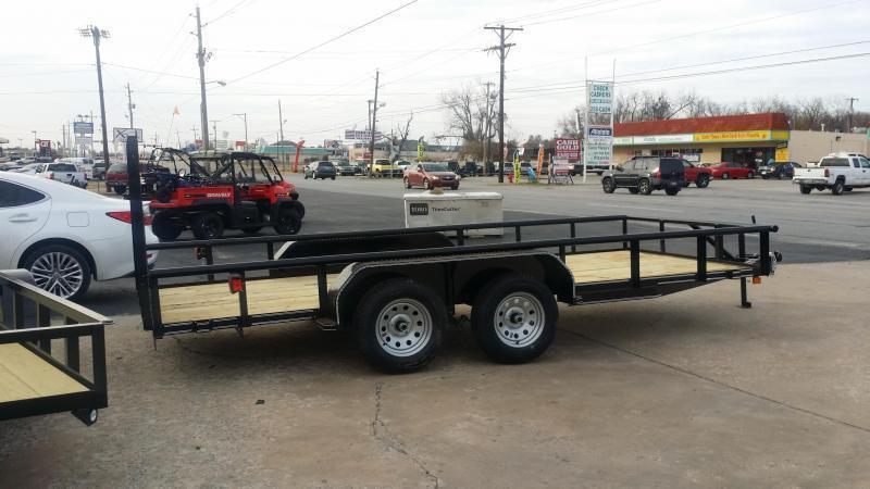 2021 Tiger Charcoal 83x16 Pipetop Utility Trailer w/ Rampgate