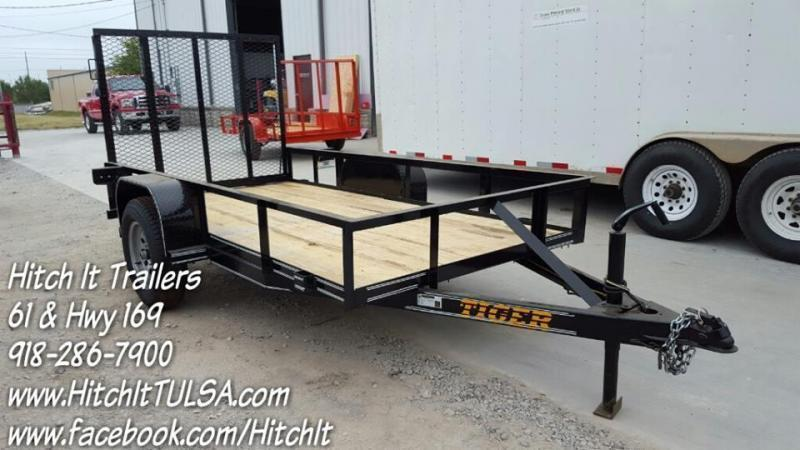 2020 Tiger 5 x 10 Black Utility Trailer w ramp