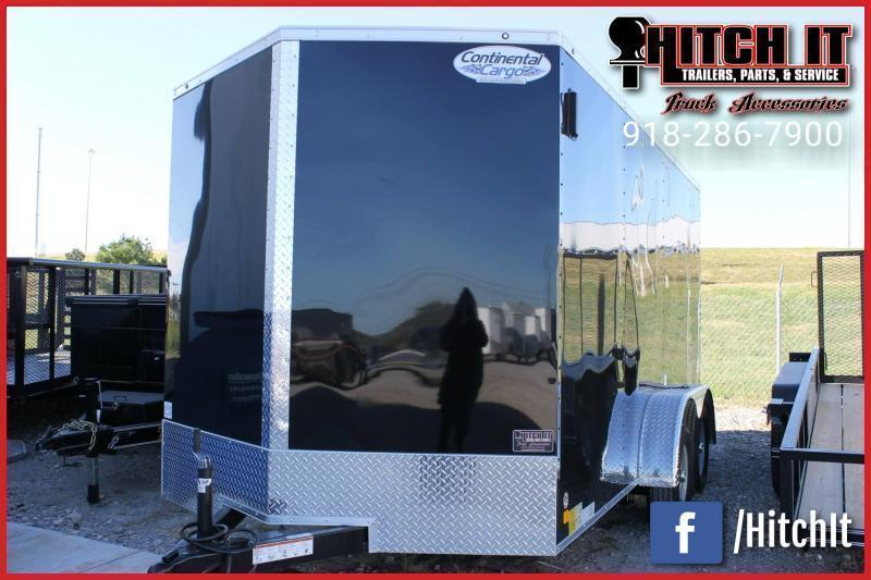 2021 Continental Cargo 7 x 16 + v-nose  Enclosed Cargo Trailer