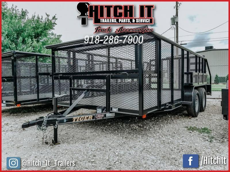 2020 Tiger 83 x 16 Landscape Trailer 5200# Axles w/ HD TRACTOR Gate