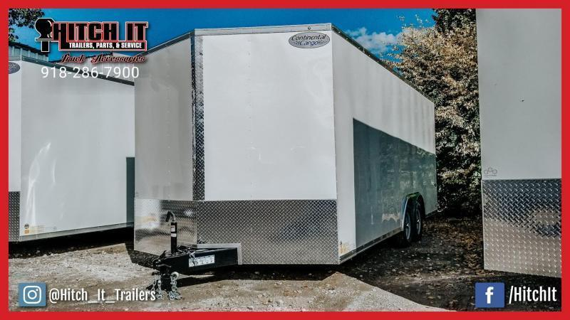 2021 Continental Cargo 8.5 x 20 Plus V-nose Car Hauler Enclosed Trailer