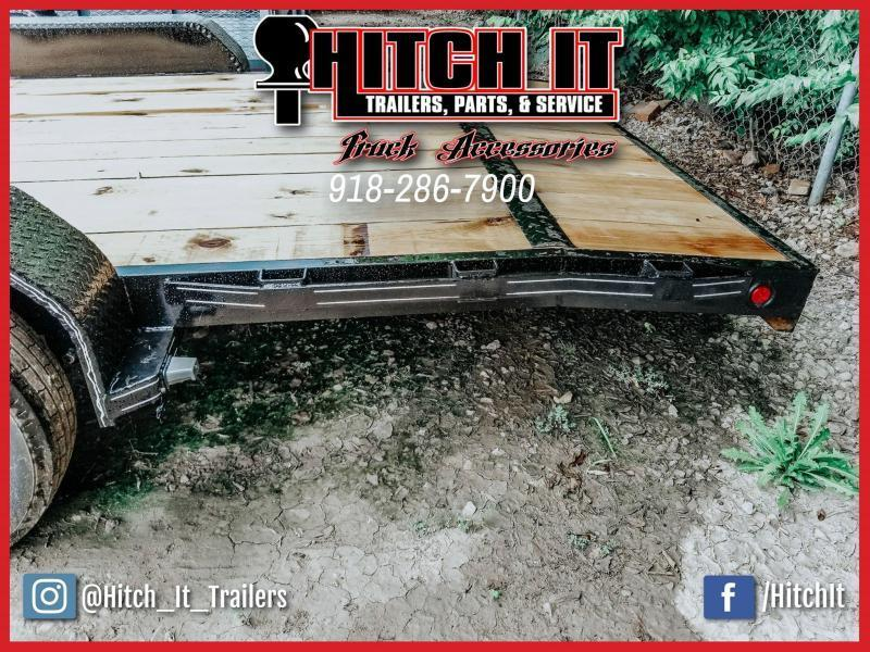 2020 Tiger 83 x 18 Flatbed Car Hauler Trailer Brakes 3500k axles slide in ramps