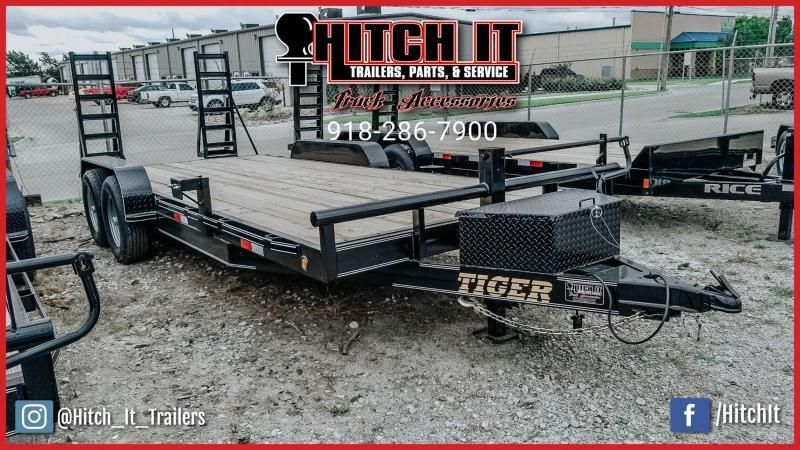 2020 Tiger 83 x 20 Heavy Duty Flatbed Trailer Tandem 7000# - TULSA OK