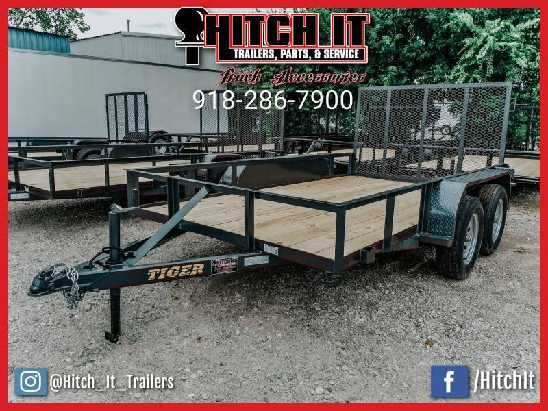 !!!COMING SOON!!! 2020 Tiger 77 X 12 Tandem Axle Utility Trailer w/ Ramp Gate 3500 lb axles