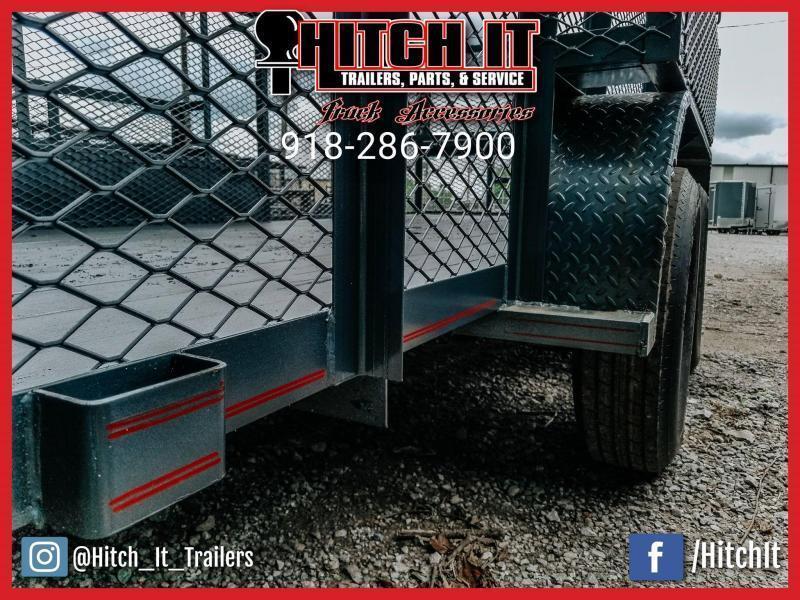 2021 Tiger 83x16 Landscape Trailer 5200# Axles w/ HD Tractor Gate