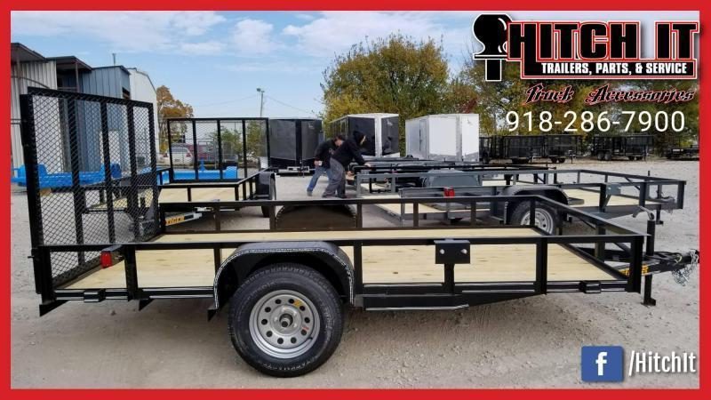 !!!COMING SOON!!! 2020 Tiger 77 X 12 Single Axle Utility Trailer w/ Ramp Gate 3500 lb axles