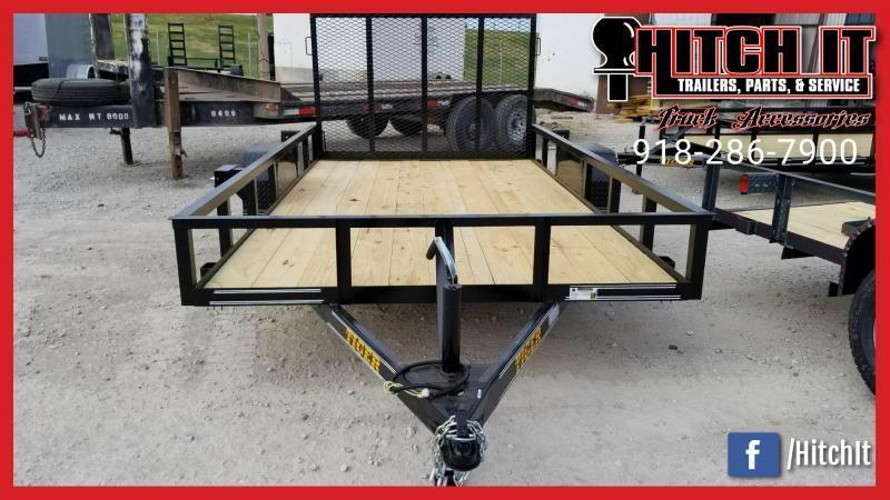 2020 Tiger 77 X 12 Single Axle Utility Trailer w/ Ramp Gate 3500 lb axles - TULSA OK