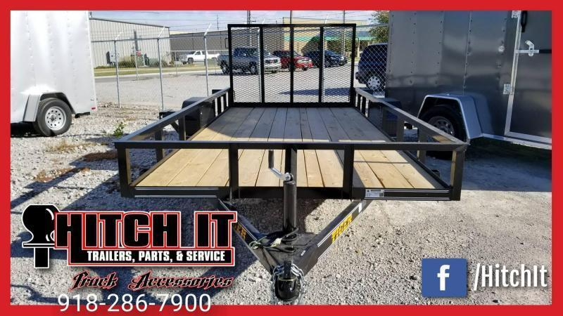 2020 Tiger 77 X 12 Single Axle Utility Trailer w/ Ramp Gate 3500 lb axles