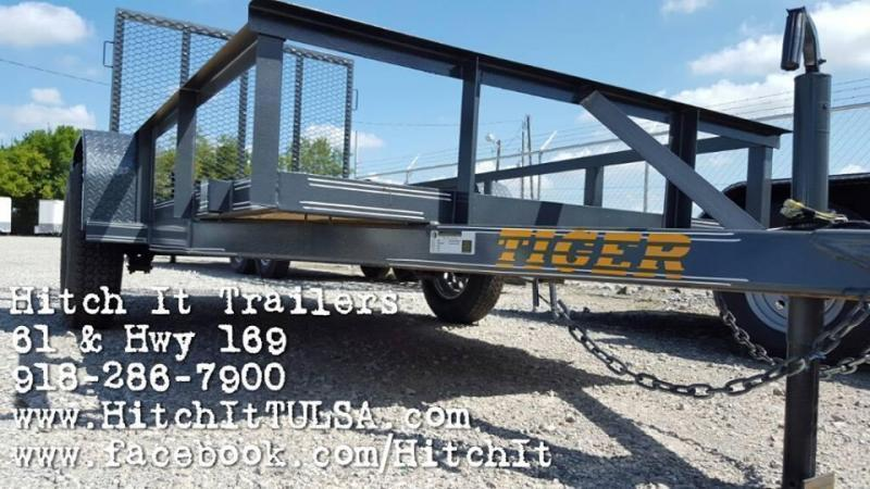 2020 Tiger Charcoal 5 x 10 Utility Trailer w ramp full wrap tongue