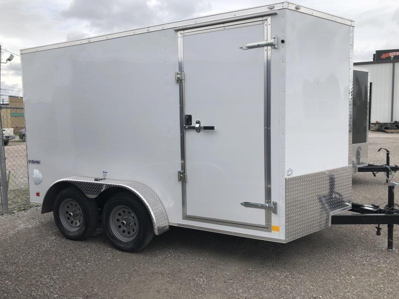 2021 Continental Cargo 7 x 12 + v-nose  Enclosed Cargo Trailer