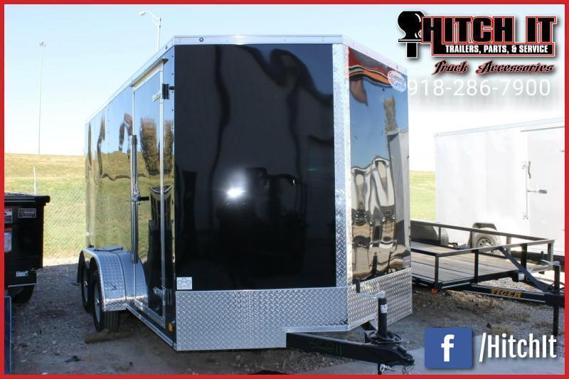**COMING SOON**  2021 Continental Cargo 7 x 16 + v-nose  Enclosed Cargo Trailer