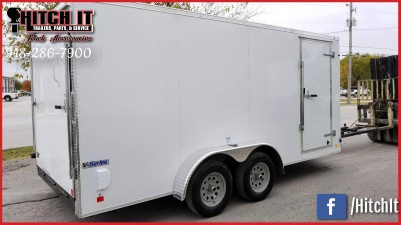 2021 Continental Cargo 7 x 12 + v-nose  Enclosed Cargo Trailer