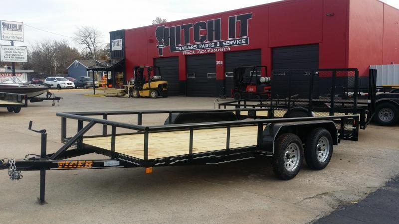 !!!COMING SOON!!!2020 TIGER 77x16 Pipetop Utility Trailer w/ Rampgate