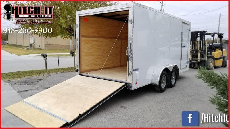 **COMING SOON**  2021 Continental Cargo 7 x 16 + v-nose  Enclosed Cargo Trailer