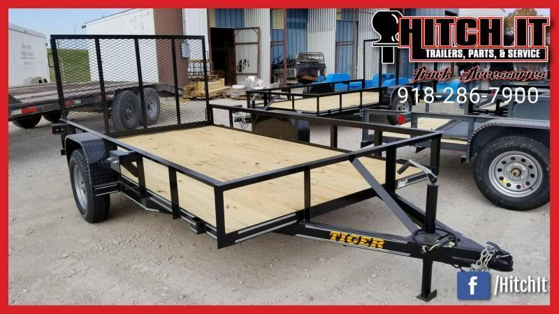 !!!COMING SOON!!! 2020 Tiger CHARCOAL 77 X 10 Single Axle Utility Trailer w/ Ramp Gate 3500 lb axles
