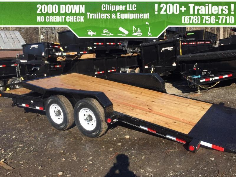 2022 PJ Trailers 7x22 14k 7 ton Tilt Deck Car Hauler / Equipment Gravity Partial Deck Removable Fenders