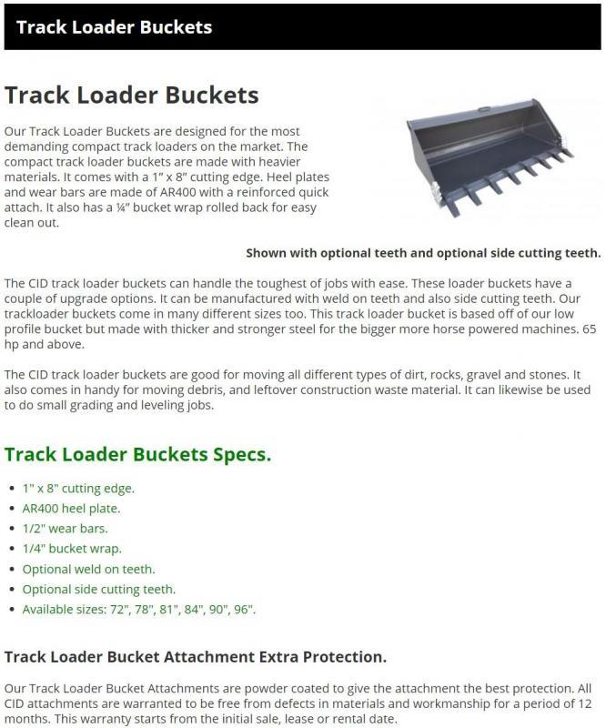 """2021 81"""" Extreme Duty Tooth Bucket, Side Cutters, 1"""" Cutting Edge CID TAKBT81 Skid Steer Attachment"""