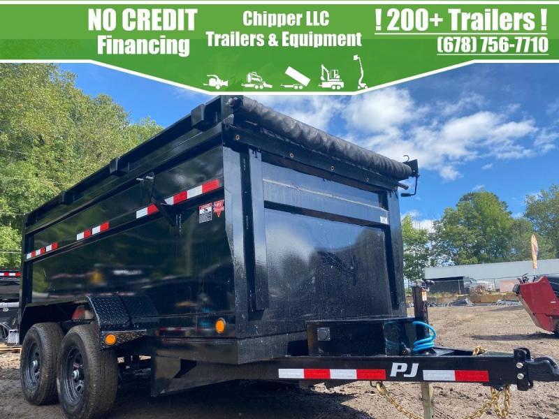 2022 PJ 6x12 10K 4ft Barn Door Ramps Dump Trailer