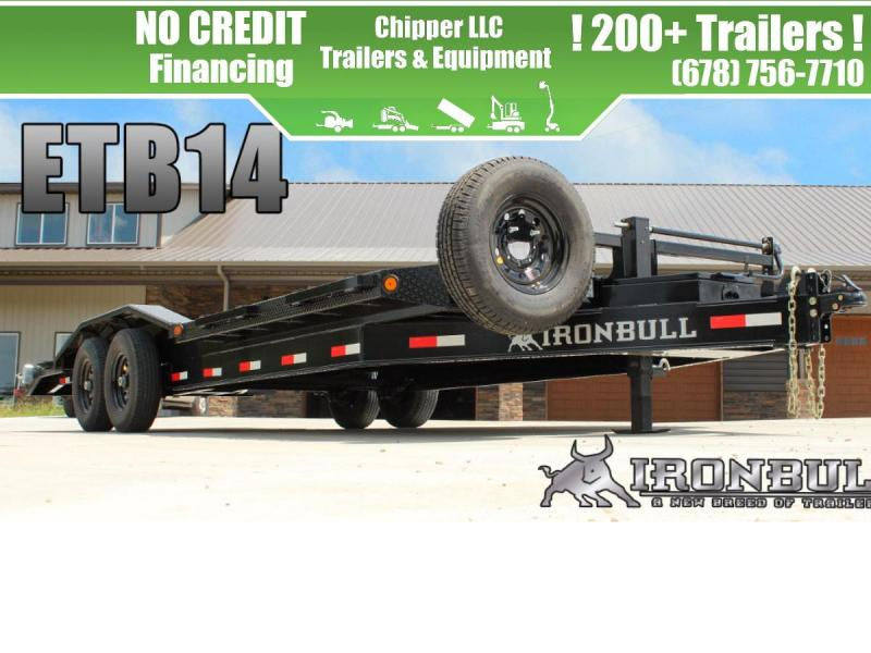2021 Ironbull 8.5x18 14k Drive Over Fender Equipment Trailer Stand Up Ramps