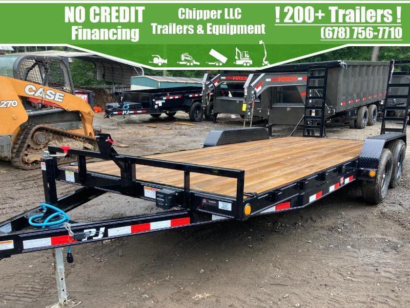 2022 PJ 7x18 10K Equipment Trailer Fold Up Ramps