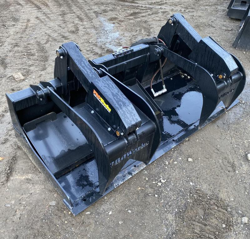 """2021 80"""" Proworks HD Solid Floor Grapple Smooth HDG80 Grapples Skid Steer Attachment"""