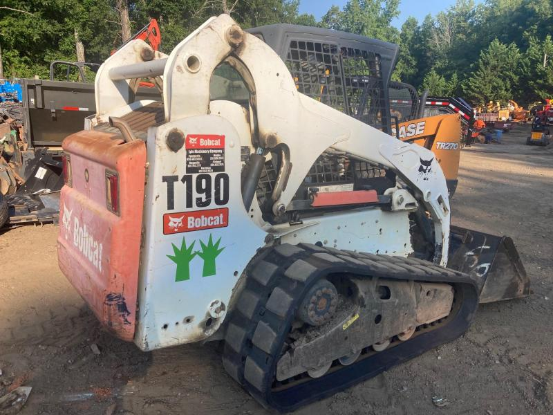 2012 Bobcat T190 Skid Steer, Wide Track, Hand Control, Open Rops, 3375 Hours