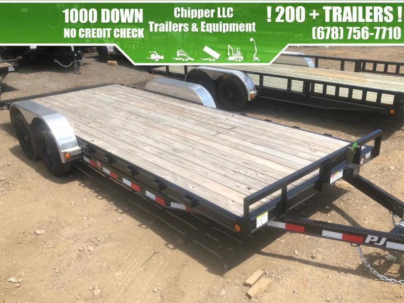 2021 PJ 7x16 7K Car Equipment Trailer Slide Out Ramps