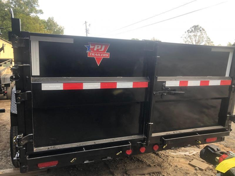 2022 PJ 7x16 3ft 14k 7 Ton Scissor Lift Ramps Dump Trailer