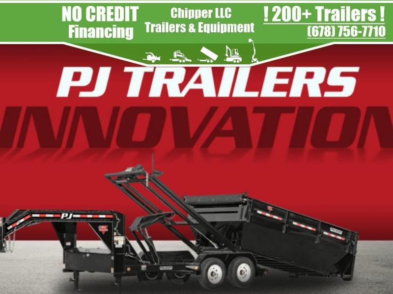 2022 PJ Trailers Rollster Roll Off Dump Gooseneck 15.6K (DR) Dump Trailer