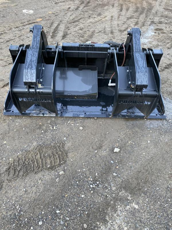 """2021 84"""" Proworks HD Solid Floor Grapple Smooth HDG84 Grapples Skid Steer Attachment"""