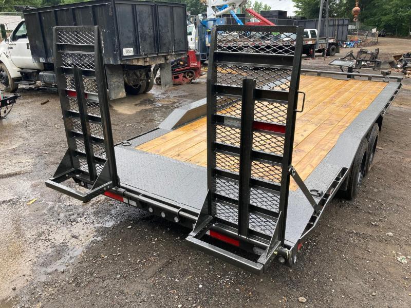 2021 MAXXD 8.5x20 16k 8 Ton Low Pro Drive Over Fenders HD Ramps Oil Bath Axles Winch Plate Equipment Trailer