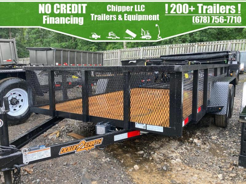 2021 Down To Earth 6.5x14 3.5K 2ft Mesh Sides Utility Trailer