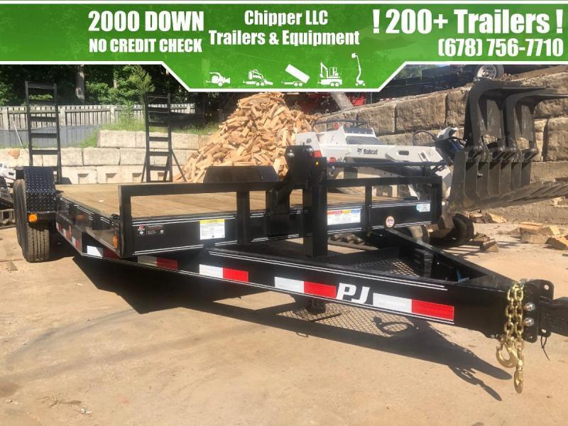 2021 PJ 7x20 14k Equipment Trailer Fold Up Ramps