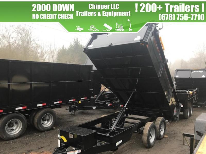2021 Homesteader 6x10 7K 2ft Barn Doors Dump Trailer