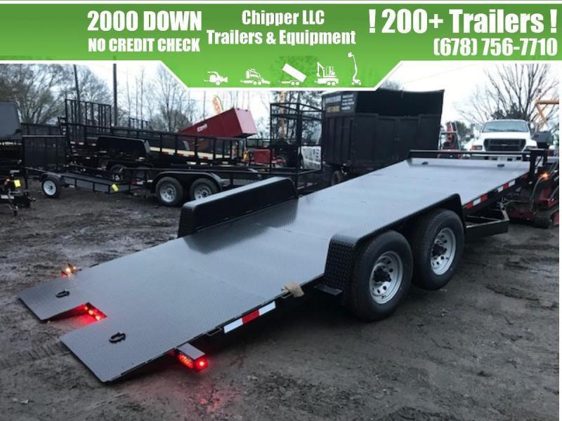 2021 Down 2 Earth Trailers 7x22 14k 7 Ton Tilt Deck Dual Cylinder Steel Car Hauler/Truck Hauler