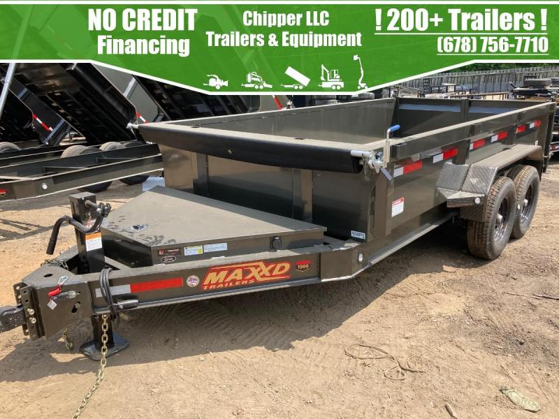 2021 MaxxD 7x14 2ft 16k 8 Ton Ramps Low Pro Scissor Dump Trailer