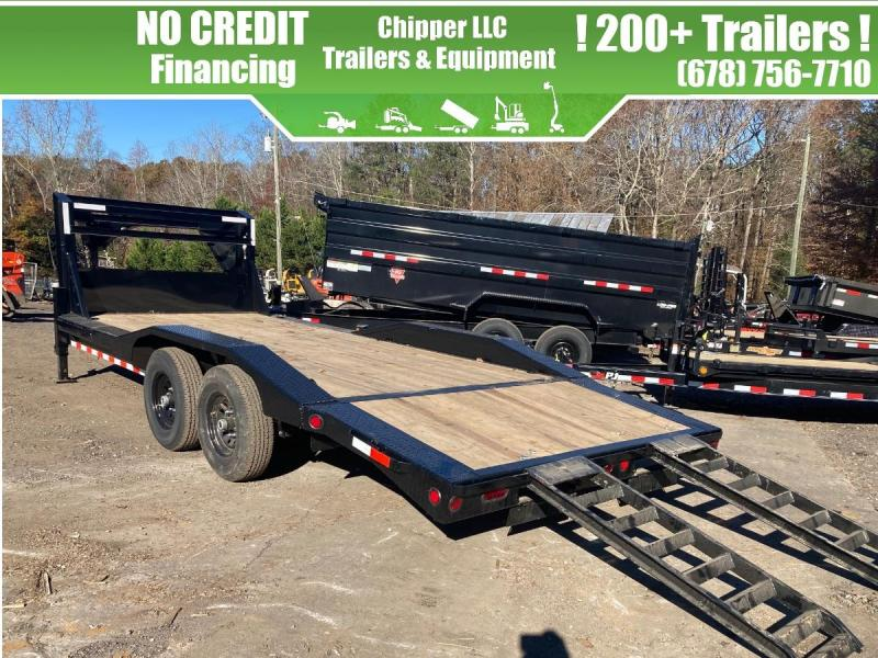 2021 Ironbull 8.5x24 14k Gooseneck Driveover Equipment Trailer Slide Out Ramps