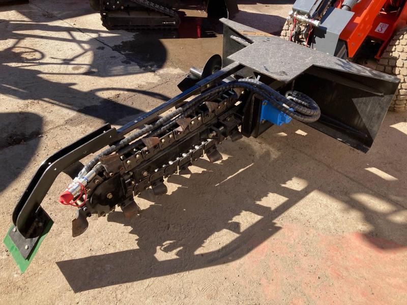 "2021 Iron Rhino 42""x7"" Extreme Duty Direct Drive Trencher Mini Skid Steer Universal Attachment"