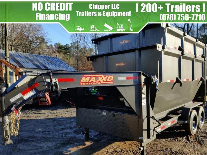 2021 MAXXD ROX 16K Roll Off Gooseneck Dump Trailer