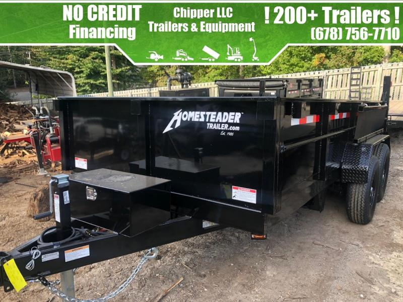2021 Homesteader 7x12 14K 2ft Barn Door Spread Gate Dump Trailer