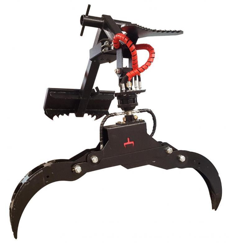 "2021 56"" Log Grapple - Power Rotator- Branch Manager T1010U Mini Skid Steer Universal Attachment"
