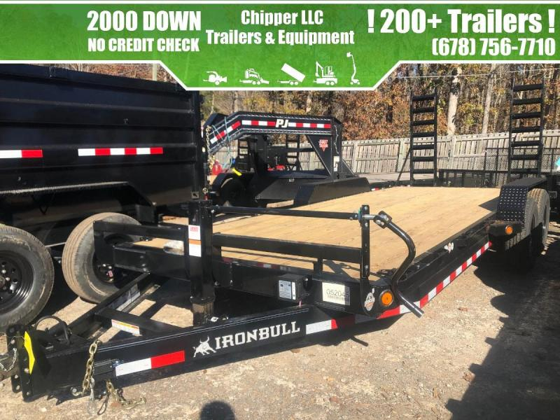 2021 Ironbull 7x18 14k 7 Ton Equipment Trailer Stand Up Ramps