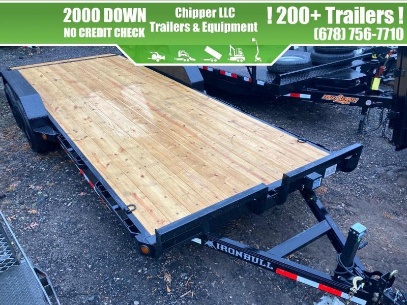 2021 Ironbull 7x20 10K Equipment Trailer Slide Out Ramps